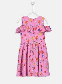 Printed - Lilac - Girls` Dress