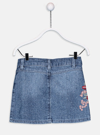 Printed - Indigo - Girls` Skirt