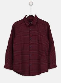Stripe - Maroon - Boys` Shirt
