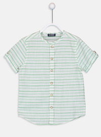 Stripe - Green - Boys` Shirt