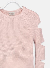 Crew neck - Pink - Girls` Pullovers