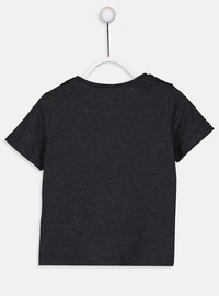 Crew neck - Anthracite - Girls` T-Shirt