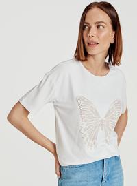Crew neck - White - T-Shirt