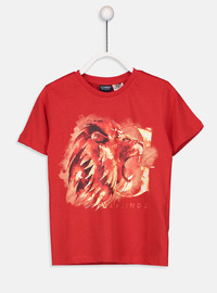 Crew neck - Red - Boys` T-Shirt