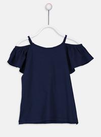 Navy Blue - Girls` T-Shirt