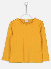 Crew neck - Yellow - Girls` T-Shirt