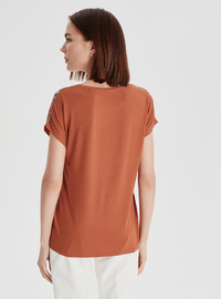 Crew neck - Orange - T-Shirt