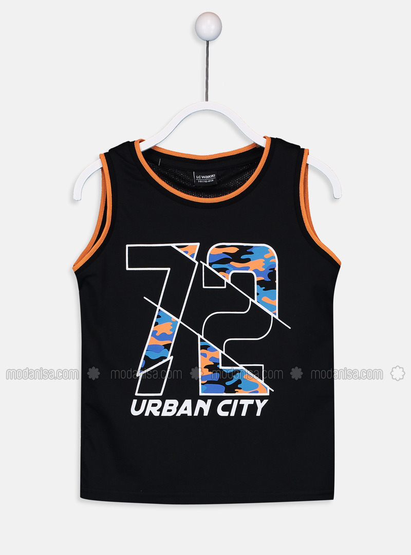 Crew neck - Black - Boys` T-Shirt