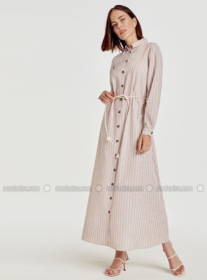 Stripe - Beige - Dress