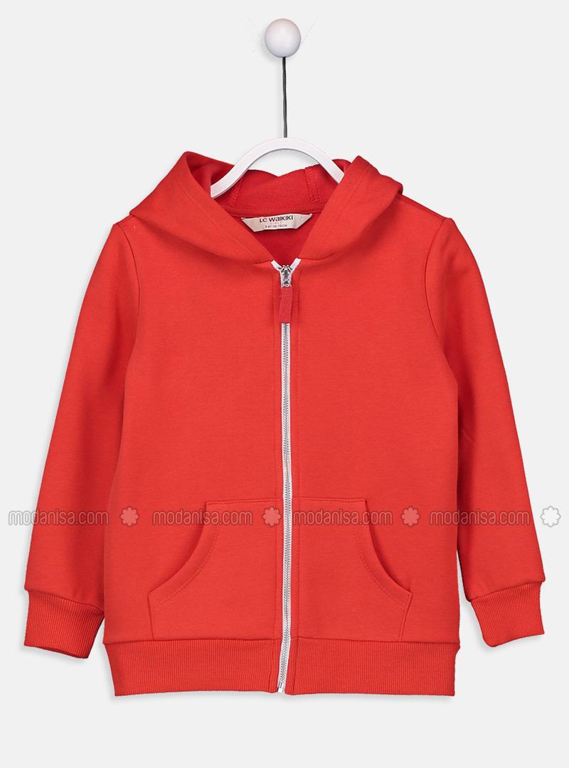 Red - Girls` Sweatshirt