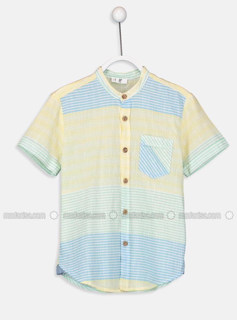 Stripe - Yellow - Boys` Shirt