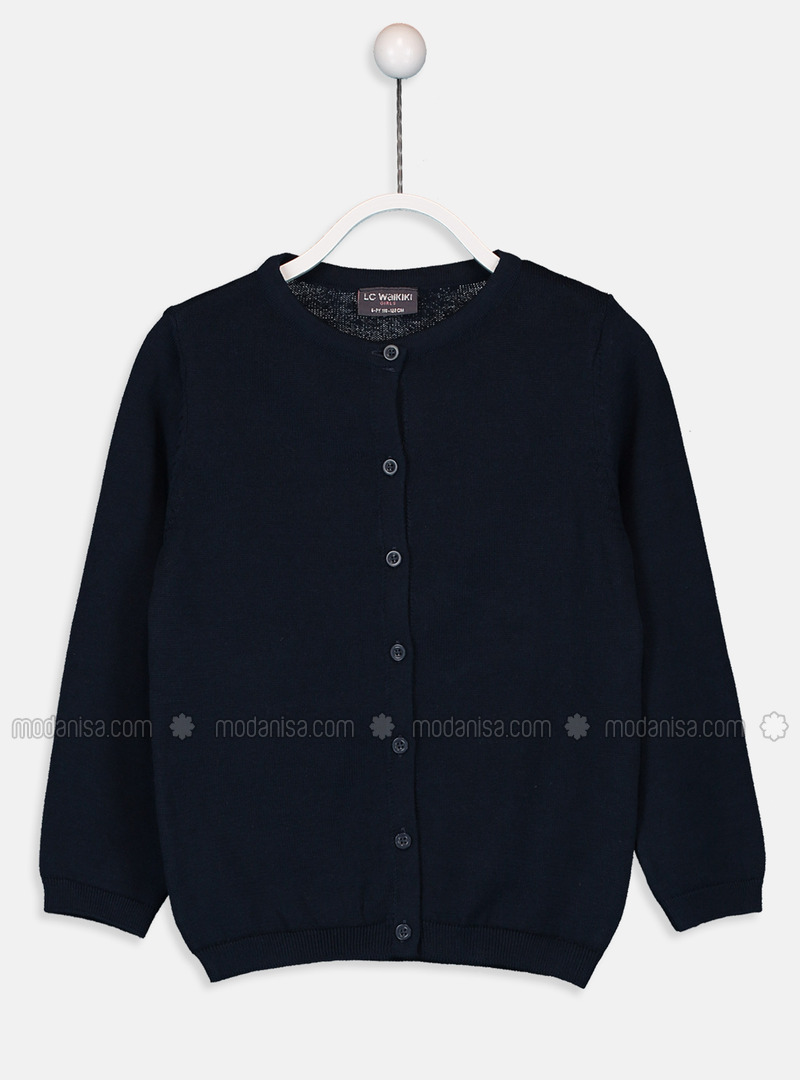 Crew neck - Navy Blue - Girls` Pullovers