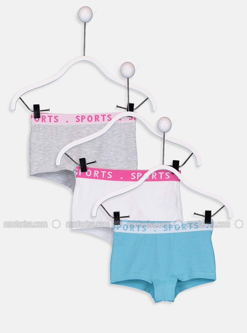 Gray - Girls` Underwear