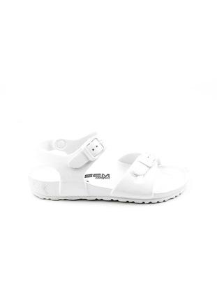 White - Girls` Slippers - Esem