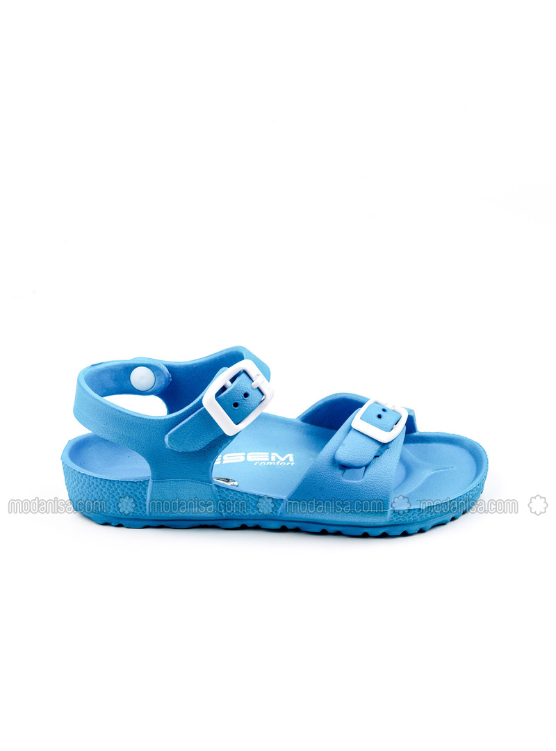 Turquoise - Girls` Slippers