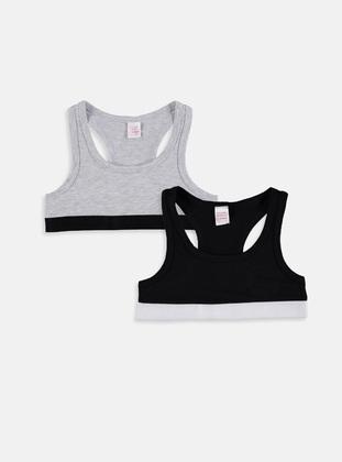 Black - Girls` Underwear