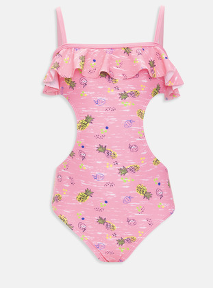 Pink - Girls` Swimsuit - LC WAIKIKI