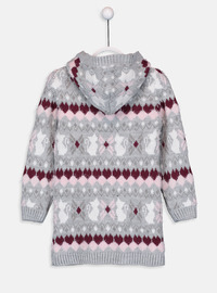 Printed - Gray - Girls` Pullovers