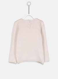 Crew neck - Beige - Girls` Pullovers