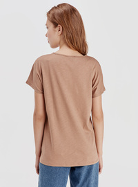 Crew neck - Beige - T-Shirt