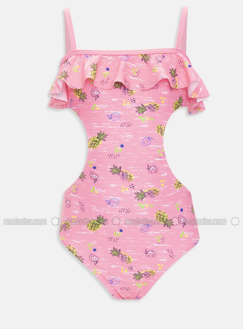 Pink - Girls` Swimsuit