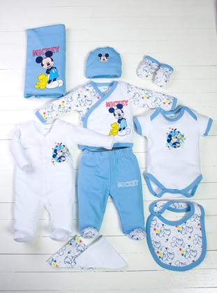 Polka Dot - Multi - Crew neck - Blue - White - Yellow - Gray - Baby Care-Pack