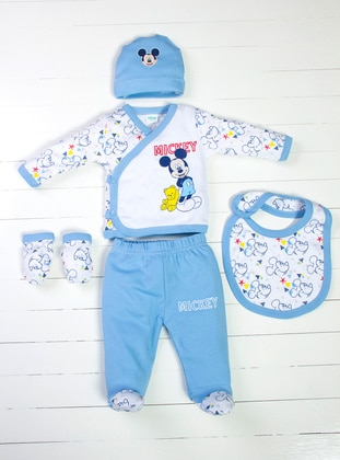 Multi - Crew neck - Blue - White - Yellow - Baby Care-Pack
