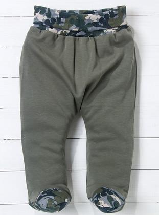 Green - White - Orange - Baby Pants