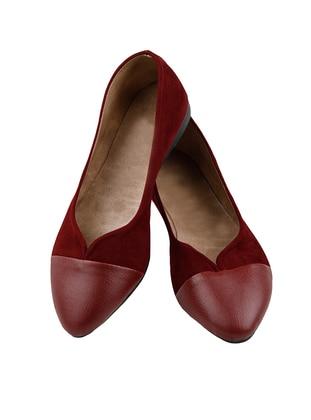 Maroon - Flat - Flat Shoes
