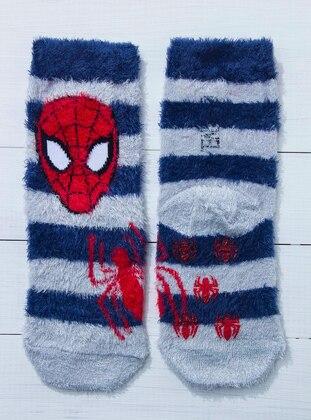 Navy Blue - Gray - Socks