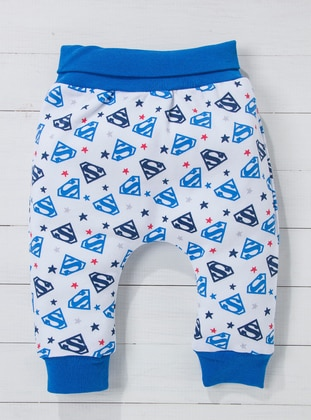 Multi - Blue - White - Baby Pants