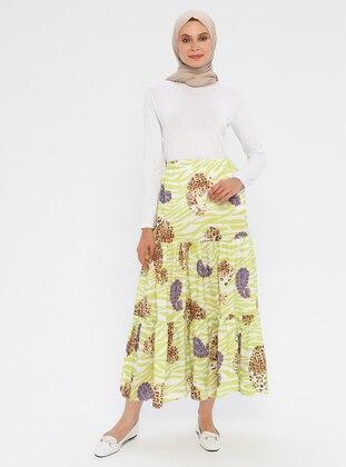 Green - Multi - Unlined - Skirt