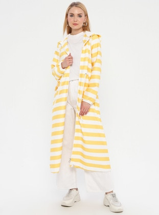 Yellow - Stripe - Unlined - Topcoat