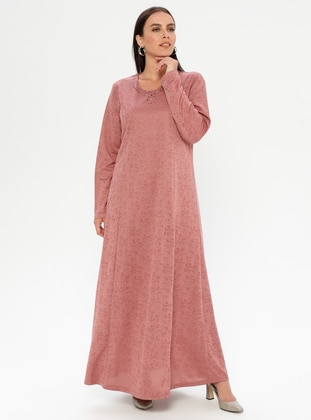 Powder - Unlined - Crew neck - Plus Size Dress