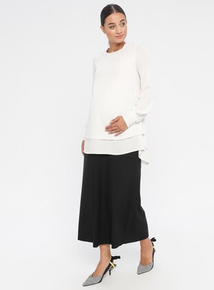 Black - Unlined - Maternity Skirt