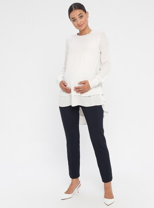 Navy Blue - Maternity Pants