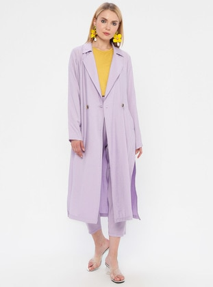Lilac - Unlined - Shawl Collar - Topcoat