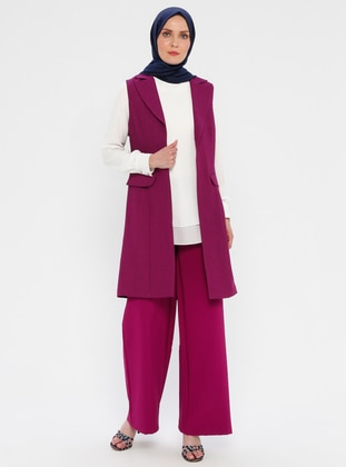 Plum - Shawl Collar - Unlined - Vest