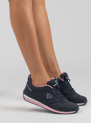 Navy Blue - Pink - Sport - Sports Shoes