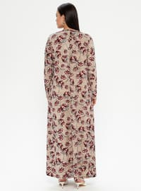 Cherry - Multi - Unlined - Crew neck - Plus Size Dress