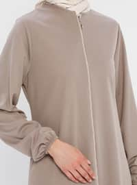 Mink - Unlined - Crew neck - Abaya