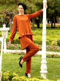 Terra Cotta - Unlined - Cotton - Acrylic - Suit