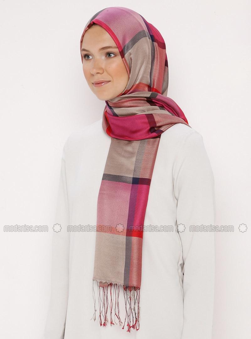 Multi - Two-way - Silk Blend - Cotton - Shawl