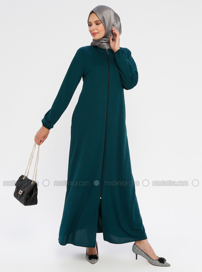 Emerald - Unlined - Crew neck - Abaya