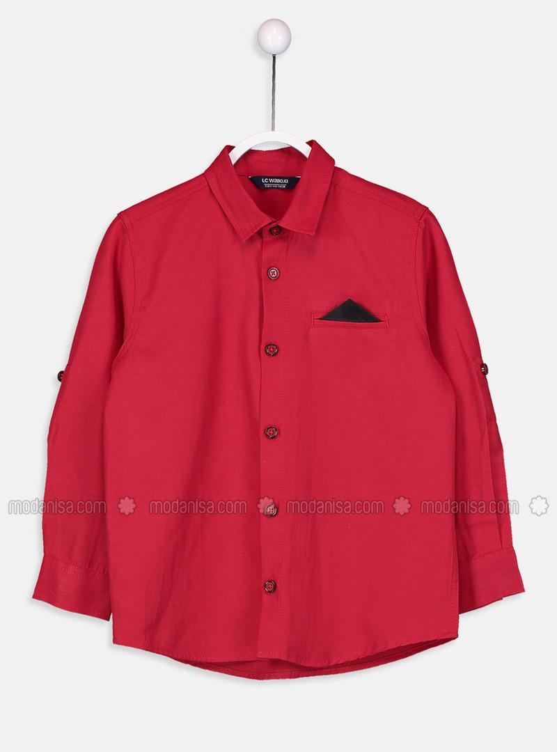 Red - Boys` Shirt