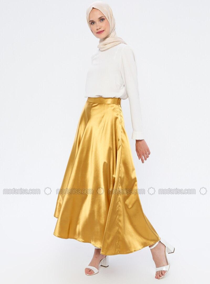 Mustard - Fully Lined - Skirt