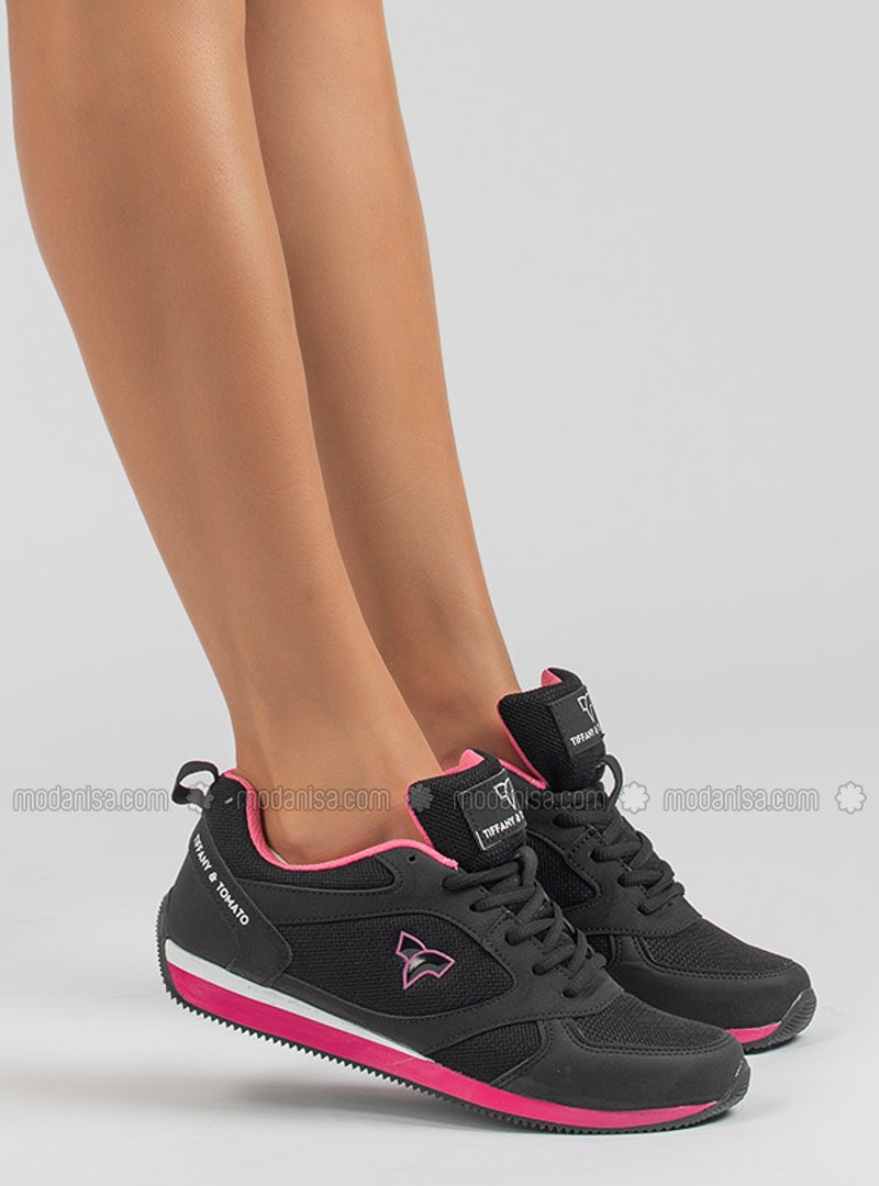 Black - Fuchsia - Sport - Sports Shoes