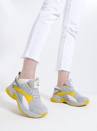 Yellow - Smoke - Sport - Sports Shoes