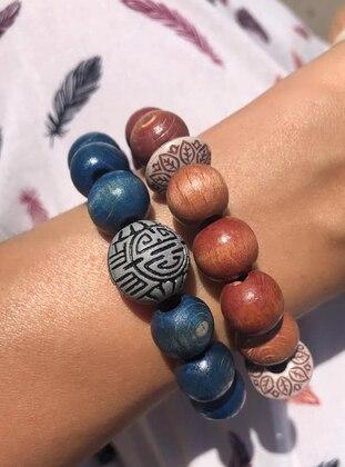 Blue - Brown - Bracelet