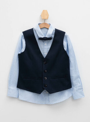 Navy Blue - Boys` Jacket - DeFacto